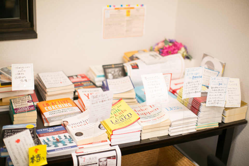 many-books-on-table